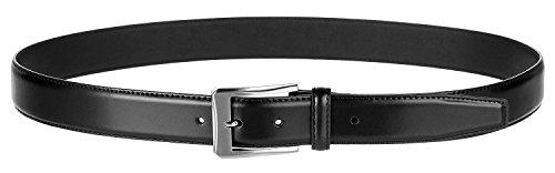 Men's Genuine Leather Dress Belt with Premium Quality - Classic & Fashion Design (Black, 34) by KM Legend (Image #2)