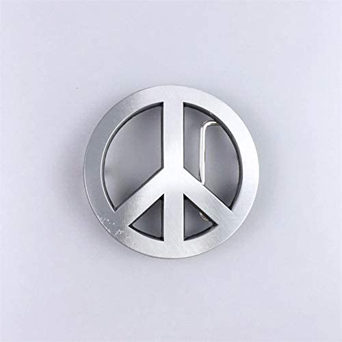 New Vintage Style Peace Symbol Love Sign Belt Buckle for Men
