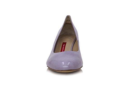 Violett Pumps Diamond Lackleder 5cm Absatz Breiter Heels 5X5qgBw6U