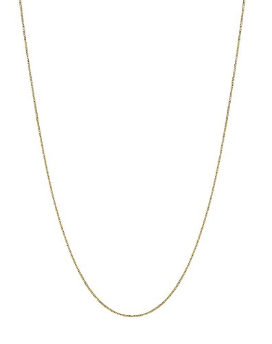 10K Solid Yellow Gold Box Chain Necklace 0.60 Mm (22 Inches)