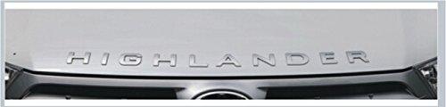 """2010-14 Toyota Highlander """"HIGHLANDER"""" Silver Hood Badge"""