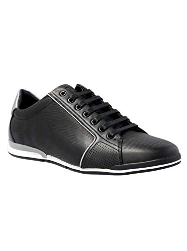 Hugo Boss Men's Saturn_Lowp_Logo Sneaker (11 D(M) US) Black