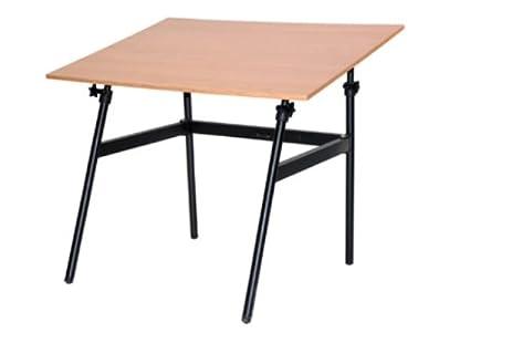 Superb Martin U DS1404CW Berkley Drafting Art Folding Table, Black With  CherrywoodTop, 30