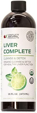 Liver Complete 16oz - Organic Liquid Liver Cleanse & Detox Supplement for High Enzymes, Fatty Liver, Liver Support