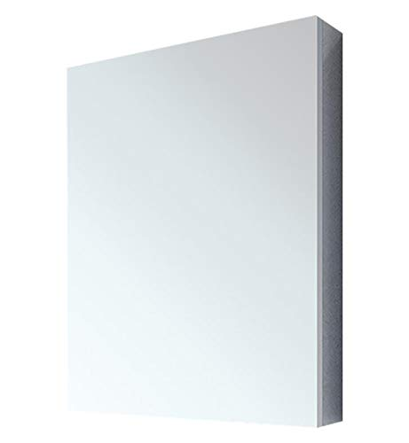 "Fleurco MCS1536A-11 Luna 15"" Wall Mount Recessed Single Door Medicine Cabinet in Chrome With Edge Profile: Flat"
