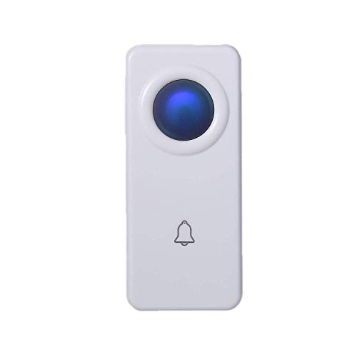 Doorbell Transmitter - CROSSPOINT Extra Add-On Remote 100% Waterproof Transmitter Button for the Expandable Wireless Doorbell Alert System, Model ET, White