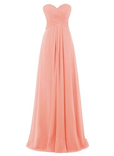 Strapless Peach Dress Gown Anlin Maxi Bridesmaid Empire Women's AN269 Evening Waist Long RP6wAa7q
