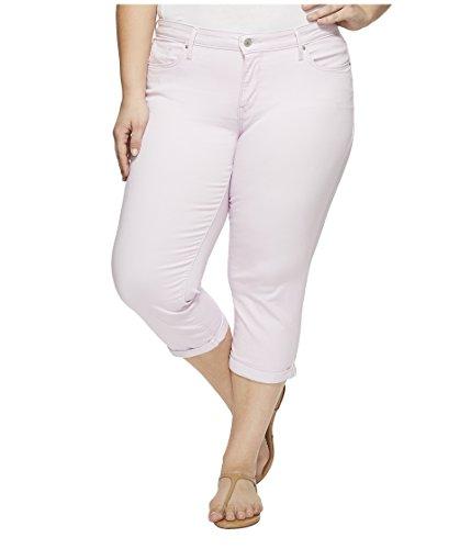 Levi's Women's Plus Size Shaping Capri Jeans, Light Lilac Twill, 36 (US 16)