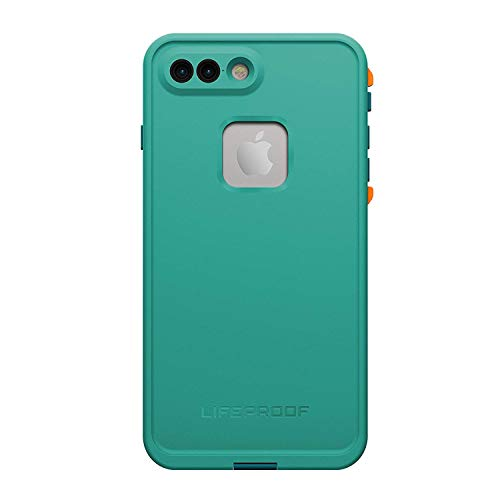 Bay Plus - LifeProof 77-53998 FRE SERIES Waterproof Case for iPhone 7 Plus (ONLY) - Retail Packaging - SUNSET BAY (LIGHT TEAL/MAUI BLUE/MANGO TANGO)