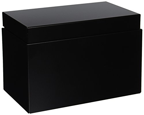 STEELMASTER Index Card File, 900 5x8-Inch Card Capacity, 5.9 x 8.6 x 5.1 Inches, Black (263855BLA)