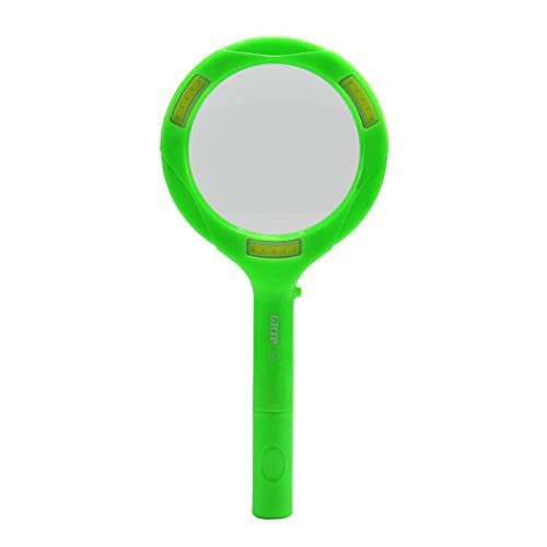 Grip COB LED Lighted Senior and Kids Magnifying Glass for Coins, Medication, Plants, Insects, Flowers and More