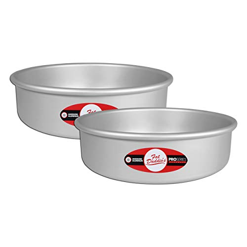 Fat Daddio s Anodized Aluminum Round Cake Pan, 6 Inches by 3 Inches, Set of 2