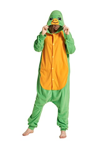 Unisex Turtle Funny Adult Costume Polar Fleece One Piece Pajamas M -
