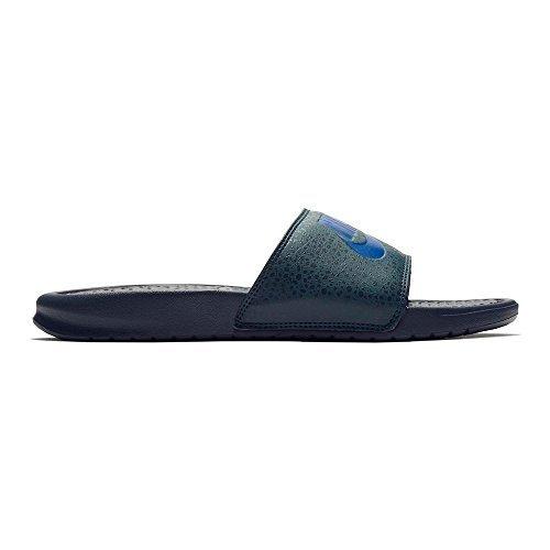 NIKE Benassi JDI Print Mens Fashion-Sneakers 631261-404_7 - Obsidian/Deep Royal Blue-Deep Jungle Benassi Slide