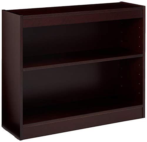 - Lorell 2-Shelf Panel Bookcase, 36 by 12 by 30-Inch, Mahogany