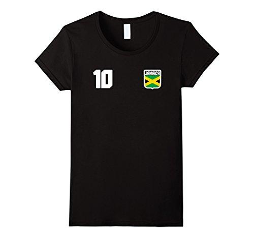 Soccer Jersey Football Shirt (Womens JAMAICA T-shirt Jamaican Tee Soccer Football Jersey Style XL Black)