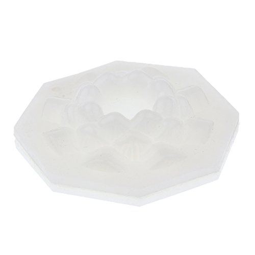 MagiDeal Lotus Flower Shaped Plastic Candle Moulds Soap Molds for Home DIY Candle Making Crafts Accessoires 5.5x2.7cm
