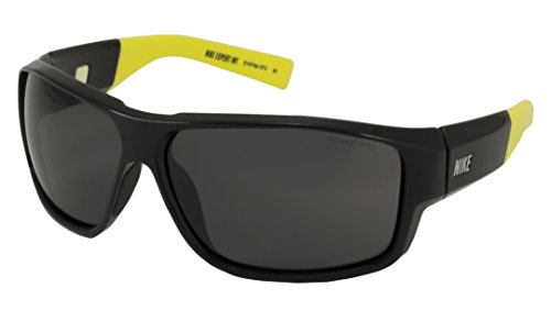 NIKE Grey Lens Expert Interchange Sunglasses, Black/Volt/Mint ()