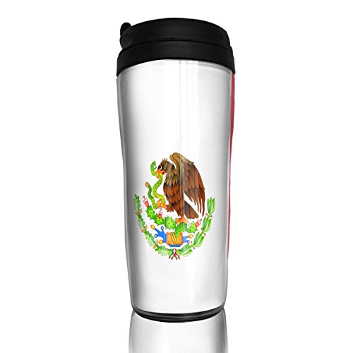 KiiKiss Hug Mexico Flag Green Red Flip Top Lid Leak Proof Sports Water Bottle Coffee Cup Vacuum Mugs Cups Sealed Tumbler Fit Drink Bottle 350ML ()