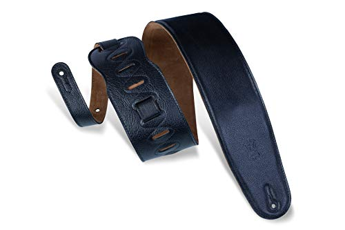 Levy's Leathers Guitar Strap (M4GF-XL-BLK) (Extra Long Leather Guitar Strap)