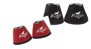 (Professionals Choice Equine Quick Wrap Hoof Bell Boot, Pair (Large, Black))