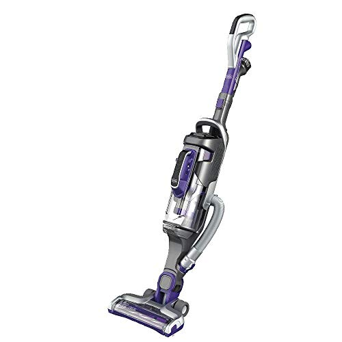BLACK+DECKER HCUA525JP Cordless 2-in-1 Stick Vacuum, Powerseries Pro 20V Pet Vacuum, Purple (Renewed)
