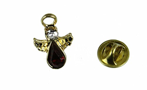 6030583 July Crystal Birth Month Guardian Angel Lapel Pin Brooch Tie Tack