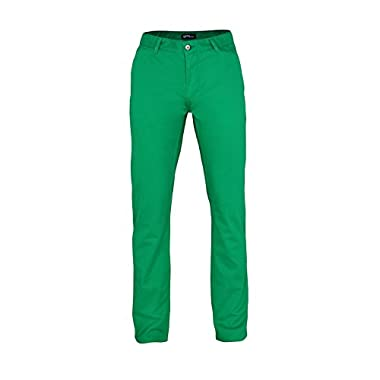 Asquith & Fox Mens Classic Casual Chino Pants/Trousers (2XLT) (Kelly)