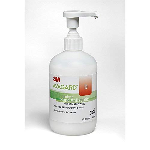 Avagard D Instant Hand Antiseptic Sanitizer Gel, Code 9222, 16 Ounce Pump Bottle ()