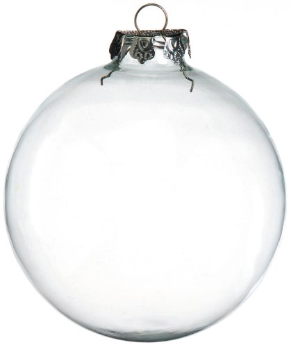 Clear Glass Ball Ornaments 100mm