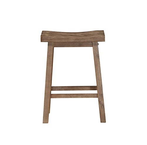 (Boraam 75024 Sonoma Counter Height Saddle Stool, 24-Inch, Wire-Brush)