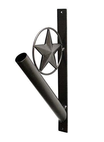 Laredo Import Iron Star Flag Pole Holder-13 Inches High ()