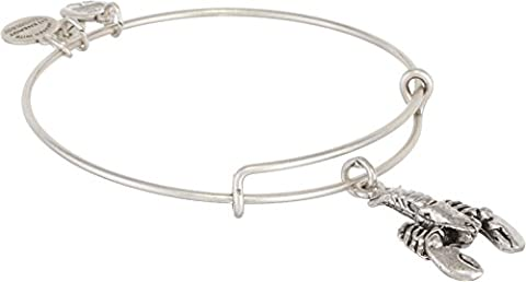 Alex and Ani Women's Lobster Charm Bangle Rafaelian Silver Finish One Size - Customized Lobster