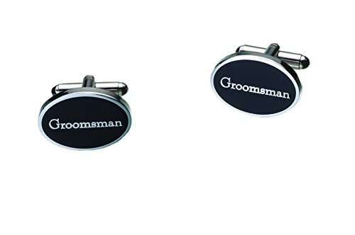 Lillian Rose Groomsman Cufflinks, Pair of (Rose White Cufflinks)