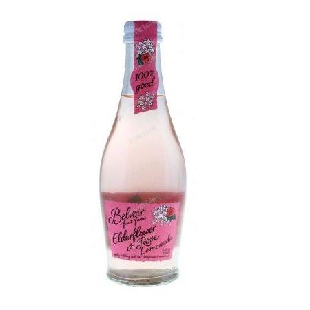 Belvoir, Beverage Sparkling Elderflower Rose organic, 8.4 Fl Oz