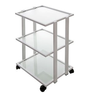 Three Glass Shelf Beauty Spa Rolling Trolley/cart