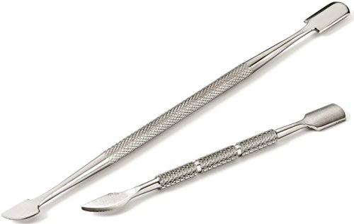 Best Cuticle Pusher and Spoon Nail Cleaner Set – Professional Stainless Steel Cuticle Remover Kit, Cutter and Trimmer Manicure and Pedicure Tools – for Fingernail and (Stainless Steel Pusher)