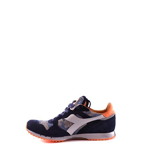 DIADORA HERITAGE Zapatos Hombres Sneakers Trident Camo Perf Blu Vintage Nuevo Azul