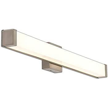 New Squared Capped End Modern Frosted Bathroom Vanity