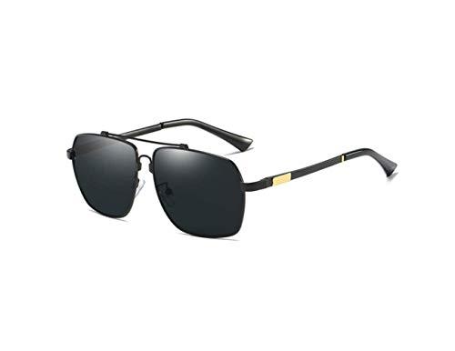 Driving Grey Driver Liwenjun De Sunglasses Caja Polarizadas Hombre Black Gafas Sol Frame 8RqHg