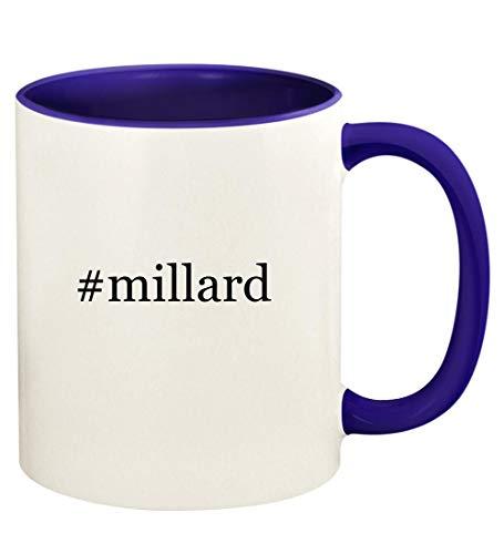 #millard - 11oz Hashtag Ceramic Colored Handle and Inside Coffee Mug Cup, Deep Purple