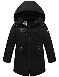 Capturelove Boys Heavyweight Hooded Down Coat Winter Long Jacket