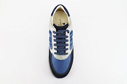 40 Textile Wildleder Leder Beige EU LUMBERJACK AG175 Blau Sneakers Y07xqaX5