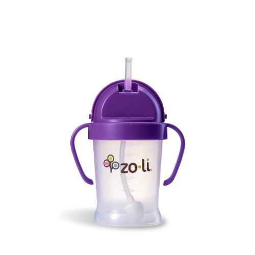 ZoLi BOT Straw Sippy Cup - Purple 6 oz