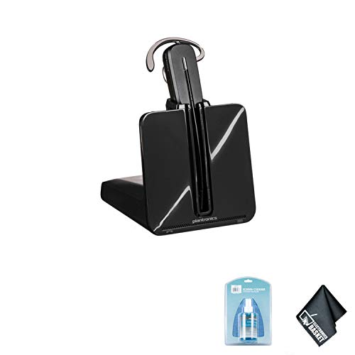 Plantronics CS540 Wireless Office Headset System - Bundle with Universal Screen Cleaner + Microfiber Cleaning Cloth ()