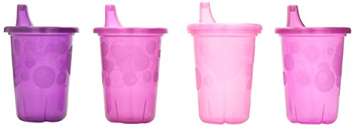 The First Years Take & Toss Spill-Proof 4-Pack Sippy Cups – 10 Ounce Pink