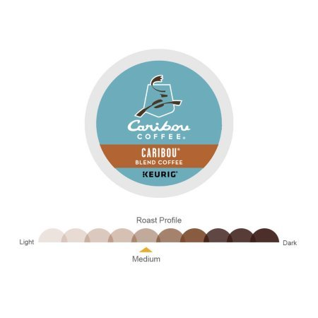 PACK OF 4 - Caribou Coffee Caribou Blend Keurig Single-Serve K-Cup Pod, Medium Roast Coffee, 18 Count by Caribou Coffee (Image #4)