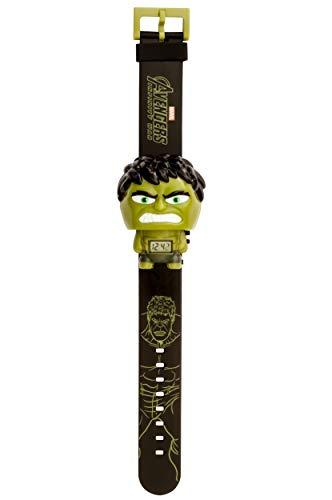 BulbBotz Marvel 2021845 Avengers: Infinity War Hulk Kids Light up Watch | Black/Green | Plastic | Digital | LCD Display| boy Girl | Official