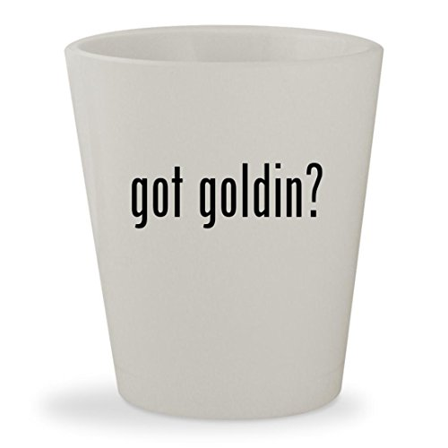 got goldin? - White Ceramic 1.5oz Shot Glass