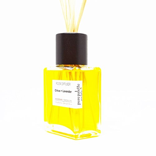 Citrus Lavender Spa Fragrance Room Diffuser Set with Natural Reeds and Box Handmade in Virginia, U.S.A
